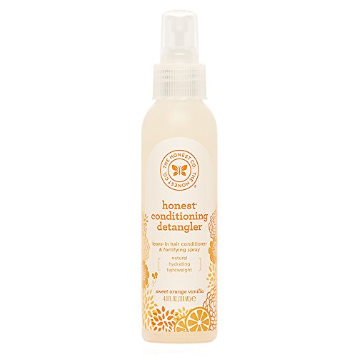 The Honest Company Sweet Orange Vanilla Conditioning Detangler Spray Lightweight Leave-in Conditioner & Fortifying Spray Paraben & Synthetic Fragrance Free Plant-Based VEGAN 4 FL Oz.