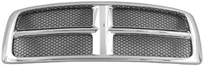 New Front Grille For 2002-2005 Dodge Pickup RAM1500 and 2003-2005 Dodge Pickup RAM2500-3500 Chrome Frame With Painted Honeycomb Inserts CH1200268
