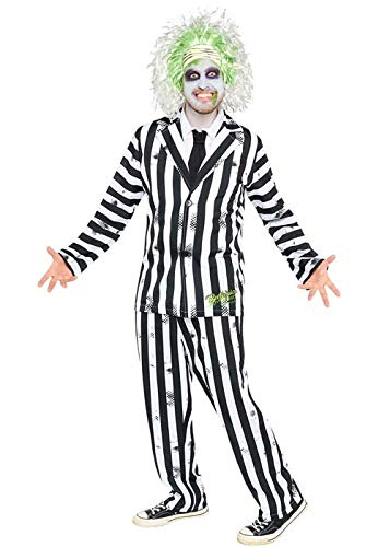 Disfraz de Beetlejuice para Hombre Talla Adulto Large (42-44' Chest)