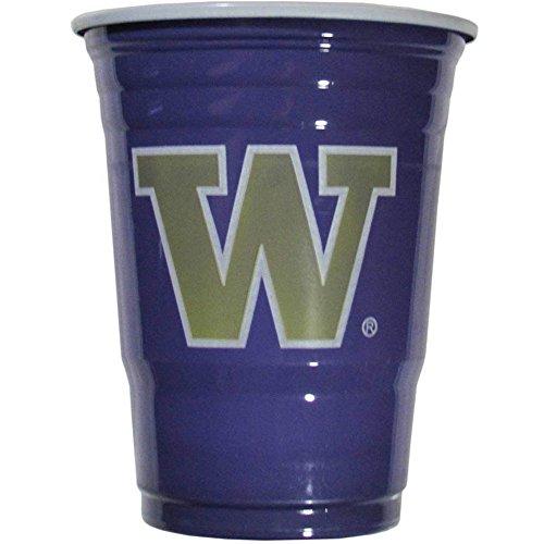 Siskiyou NCAA Washington Huskies Plastic Game Day Cups 2 Sleeves of 18 (36 Cups)