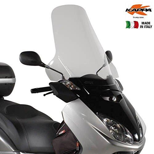 Preisvergleich Produktbild Windschutzscheibe transparent 63, 5 x 69, 5 cm (H x L) Kappa KD438ST MBK Skycruiser 125 (05 > 09) Yamaha X-Max 125 250 (05 > 09)