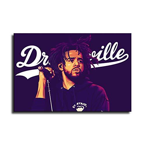 FANER J Cole Hip Hop Rapper Music Singer Stars Collage Poster Prints Painting Canvas Art Wall...