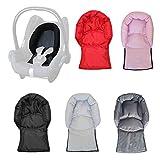 Aveanit Kompatibel mit Maxi Cosi Baby-Kindersitz, Nackenstütze und Kopfkissen, universell (hellrosa...