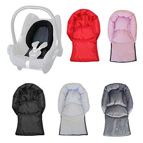 Aveanit Kompatibel mit Maxi Cosi Baby-Kindersitz, Nackenstütze und Kopfkissen, universell (hellrosa – Baumwolle)