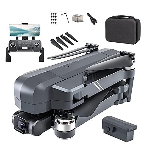 HAOJON Quadricottero Drone Ultraleggero e Pieghevole, Gimbal con Fotocamera 4K, quadricottero GPS Facile per Batteria principiante 1