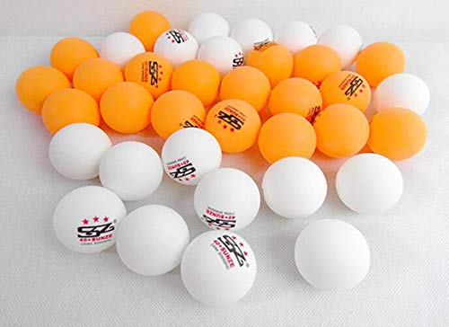 HENG Tischtennisbälle, Spielball 40+ Ball Eimer 60er Pack Trainingsball, Gelb, Weiß I Wish You Happiness, My Friend. (Capacity : 2 Barrel, Color : Yellow)