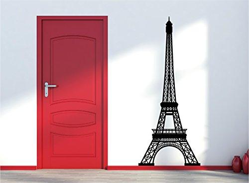 Red Parrot Graphics Sticker mural Tour Eiffel Paris France 83 x 200 cm
