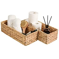 commercial StorageWorks Water Hyacinth Toilet Paper Basket, Woven Toilet Head Storage Basket, … costco storage baskets