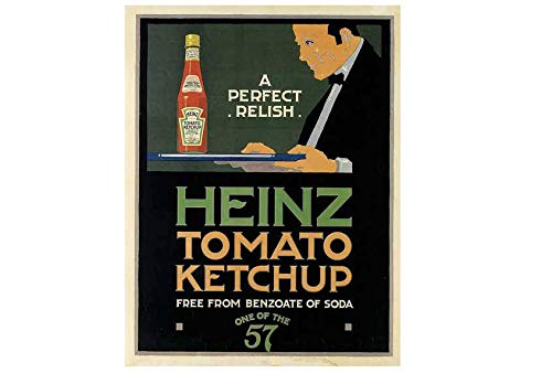 Heinz Tomaat Ketchup Vintage Stijl Metalen Reclame Wandplaat Teken Of Ingelijst Beeld Frame,Aluminium Metalen Tekenen Tin Plaque Wall Art Poster Voor Home Decor 12