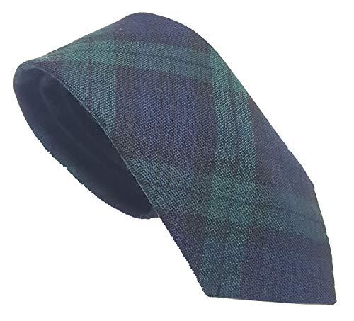 Campbell Modern Tartan Spring Weight Premium Wool Neck Tie - Made in Scotland