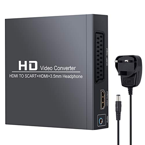 Neoteck HDMI To Scart and HDMI Converter HD Composite Video Adapter with...