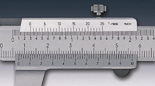 tesa 00530111Standard Messschieber, 0mm/200mm Messbereich, 0, 02MM unten Vernier, 1,5mm x 2mm Dimension