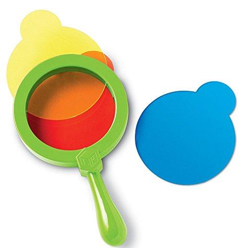 Learning Resources Color Mixing Lenses, Homeschool Preschool, Experiments, 4 Pieces, Ages 2+