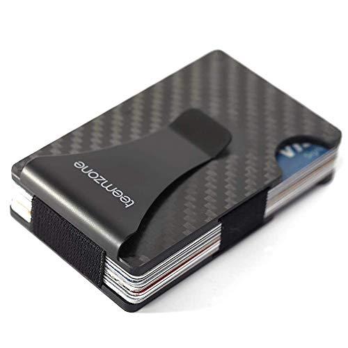 Men's Wallet,Money Clip,RFID Blocker,Minimalist Carbon Fibre Mens Slim Wallets Metal Blocking Signal Front Pocket Aluminium Contactless Card Protector Secrid Credit Card Holder