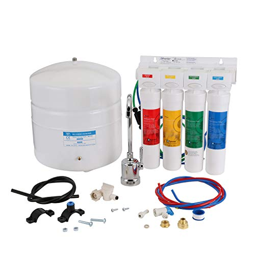 Watts Premier RO-Pure with Chrome faucet 4-Stage Reverse Osmosis Water Filtration System, WP531411
