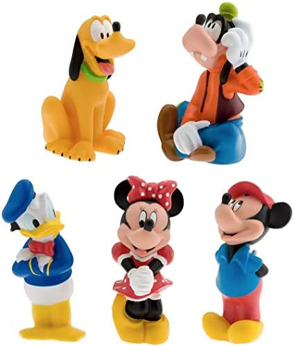 Disney Parks Squeeze Bath Tub 6 Piece Toy Set Mickey Mouse and Friends product image