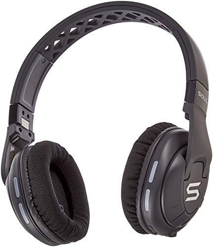 SOUL X-TRA kabellose Over-Ear Kopfhörer mit Bluetooth 4.0 für Smartphones (iPhone X, Samsung Galaxy S9 uvm), schwarz