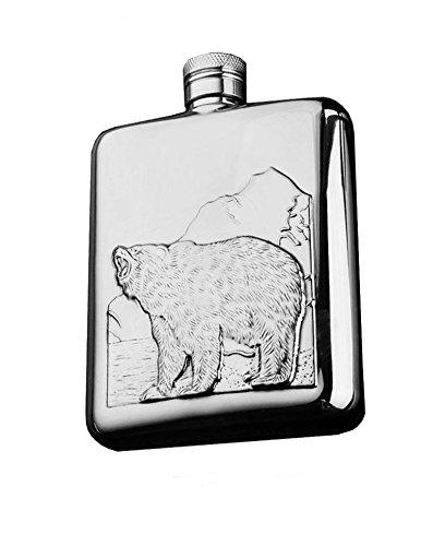 Botella de vino de acero inoxidable super elegante bolsillo petaca grabado petaca Set de regalo petaca embudo excelente para viajes/Aventura/para hombres y mujeres hermosa caja de regalo 1D
