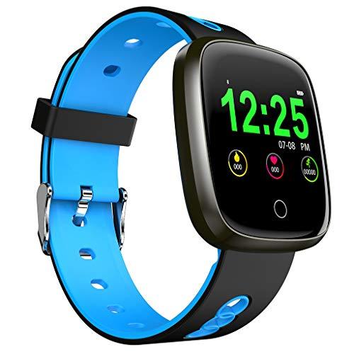 FEDULK Smart Watch Sports Fitness Activity Heart Rate Tracker Blood Pressure Sleep Monitor Smartwatch(Blue)