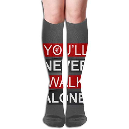 Ameok-Design YNWA Liverpool- Calcetines Largos Unisex para Deportes, Atletismo, Escuela, Correr, Calcetines Largos