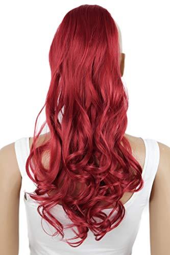 PRETTYSHOP 50cm Haarteil Zopf Pferdeschwanz Haarverlängerung Gewellt Rot HC22-1