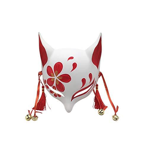 YangYong Kitsune Fox Maske für Maskenball, Japanisches Cosplay Kabuki, Halloween