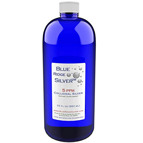 Blue Ridge Silver 5 ppm 32 oz Colloidal Silver Natural Immune Support Health Supplement