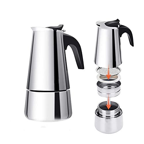 YJSS JXXXJS Mocha CAFETRY Mayor Espresso Latte Filtro Filtro CAFILER CAFERA Espresso Fabricante de café 200/300 / 450ml Acero Inoxidable (Color : 450ML)