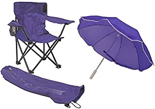Redmon Umbrella Camping Chair with Matching Shoulder Bag, Purple