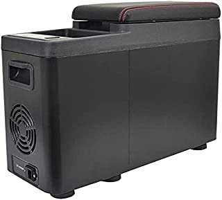 THANKO サンコー 氷も作れるセンターコンソール冷凍冷蔵庫 容量7.5L C-CFW21B コンプレッサー式 最大-20度まで冷却可能 Qi対応 スマートフォン ワイヤレス充電機能 USB搭載 コンソールボックス 車用品 キャンプ ドライブ...
