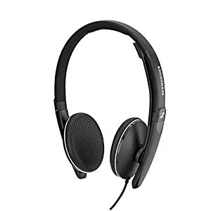 Sennheiser SC 165 USB (508317) - Double-Sided (Binaural) Headset for Business Professionals   with HD Stereo Sound, Noise-Cancelling Microphone, USB Connector (Black)