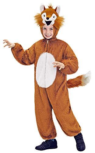 Das Kostümland Disfraz de Animal para niños - Divertido Disfraz para Carnaval, Fiesta temática y Carnaval Infantil (Zorro, 7-9 años)