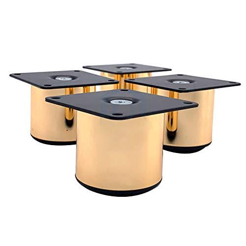 Patas De Muebles De 50 Mm De Diámetro, Patas De Metal Ajustables De Acero Inoxidable para Sofá, Pata De Repuesto Dorada para Soporte De TV, Armario, Sofá(Size:5cm)