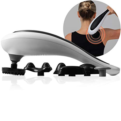 SHARPER IMAGE Cordless Deep-Tissue Neck and Back Massager with Swappable Heads