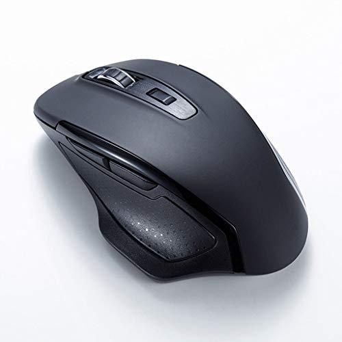 XIAOQIAO 2.4G trådlös mus, med en tyst design, 6-knappars anpassningsbar programmering, lämplig för stationära datorer, bärbara datorer och allt-i-ett-datorer (färg: svart)