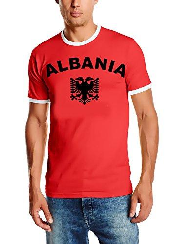 WM 2018 Albanien Fußball T-Shirt Trikot mit Deinem Namen + Nummer ! HERI Ringer rot Gr.XXL