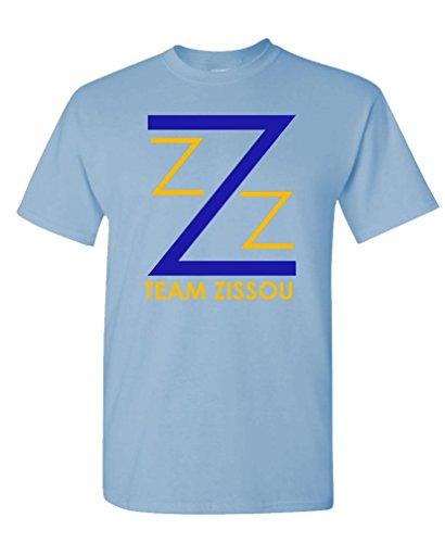 Team Zissou - Intern Aquatic Movie Comedy - Mens Cotton T-Shirt, L, Lt Blue