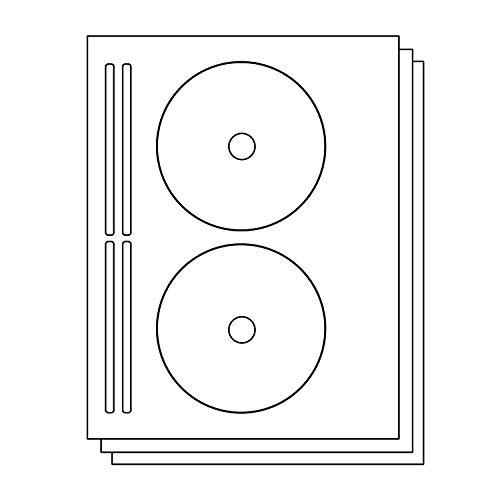 OfficeSmartLabels DISC CD DVD Labels with Spine Labels for Laser & Inkjet Printers, 2 per sheet, White, Matte, 300 Labels , 150 Sheets