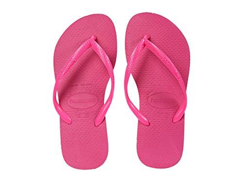 Havaianas Girls Slim Flip-Flop, Pink Flux, 3 Little Kid