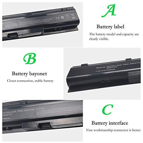 HSTNN-LB2S Akku für HP ProBook 4740s, ProBook 4730s, 633734-141, 633734-151, HSTNN-I98C-7, HSTNN-IB2S, HSTNN-LB2S, PR08 (14, 40 V wiederaufladbarer Lithium-Ionen-Akku, 4400 mAh)