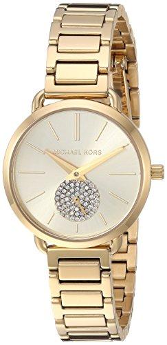 Michael Kors Damen Analog Quarz Uhr mit Edelstahl Armband MK3838
