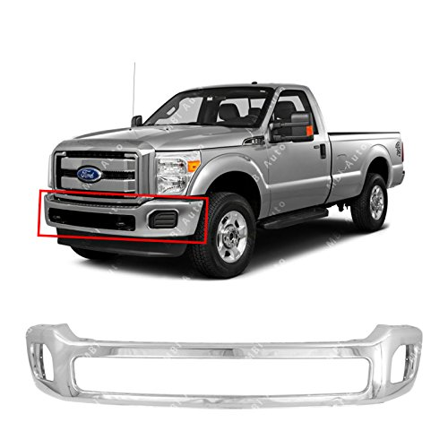 Price comparison product image MBI AUTO - Chrome,  Steel Front Bumper Face Bar for 2011-2016 Ford F250 F350 F450 Super Duty W / Out Flares 11-16,  FO1002416