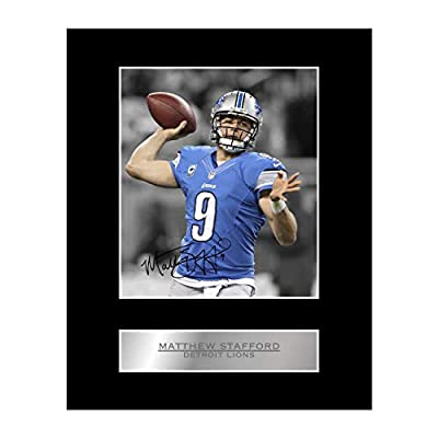 Matthew Stafford Signed Mounted Photo Display Detroit Lions #02 NFL Printed Autograph Gift Picture Print