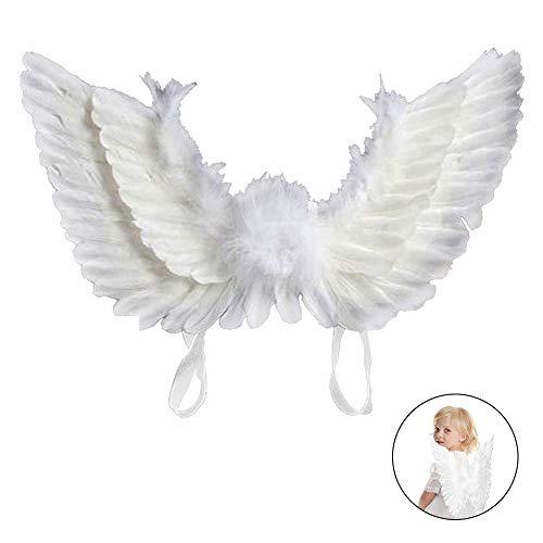 JTWEB - Costume da ali d'angelo per bambini, colore: Bianco/Nero