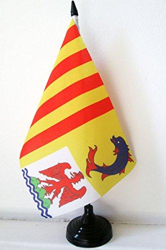 AZ FLAG Drapeau de Table Provence-Alpes-Côte d'Azur 21x14cm - Petit Drapeaux DE Bureau provençal - France 14 x 21 cm