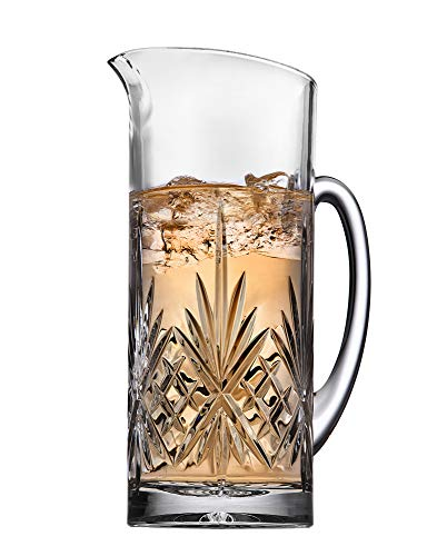 Godinger Beverage Pitcher Carafe, Cocktail Bar Mixing Glass - Dublin Collection, 34oz