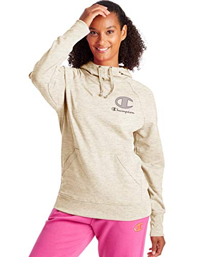 Champion Women's Hoodie, Oatmeal Heather, Large