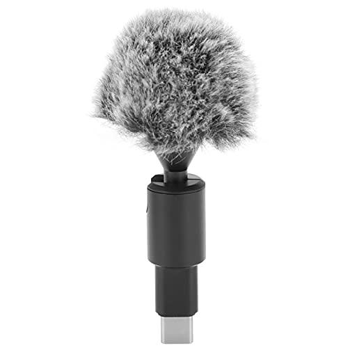 Annjom Micrófono de Solapa, micrófono de teléfono omnidireccional para cámara de Movimiento para teléfono móvil