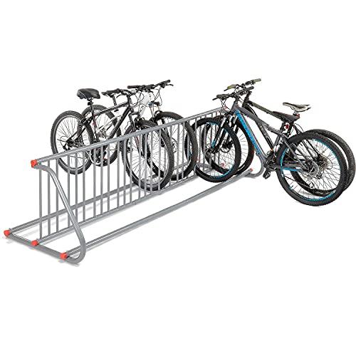 111' L Grid Bike Rack, Double Sided, 18-Bike Capacity, Powder Coated Galvanized Steel