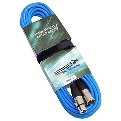 keepdrum DMX004 BL DMX Cable 10 m Blue 3-Pin XLR 10 m